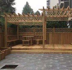 防腐木花架安装