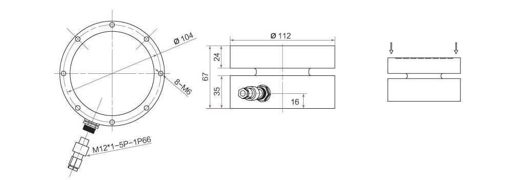 LF-112称重传感器结构图