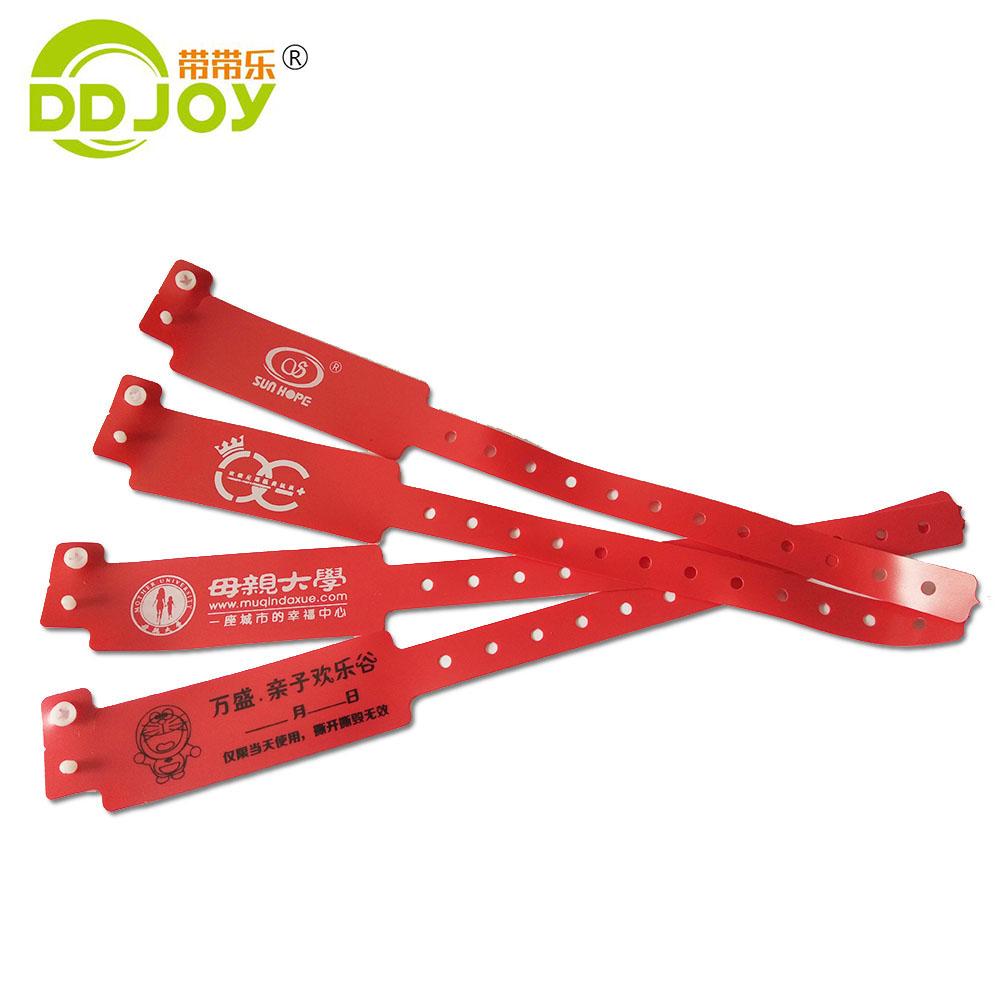 L型PVC单层手腕带,娱乐门票儿童乐园景区手腕带