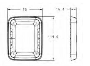 T6800 液晶温控器外形尺寸