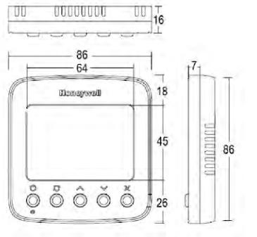 TF228WNMU 联网型温控器外形尺寸