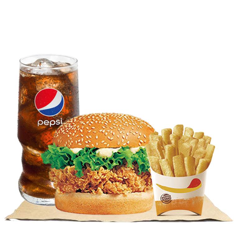 辣堡+薯霸王+可乐