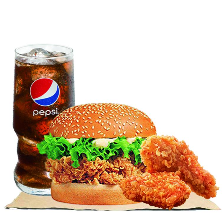 辣堡+辣翅+可乐