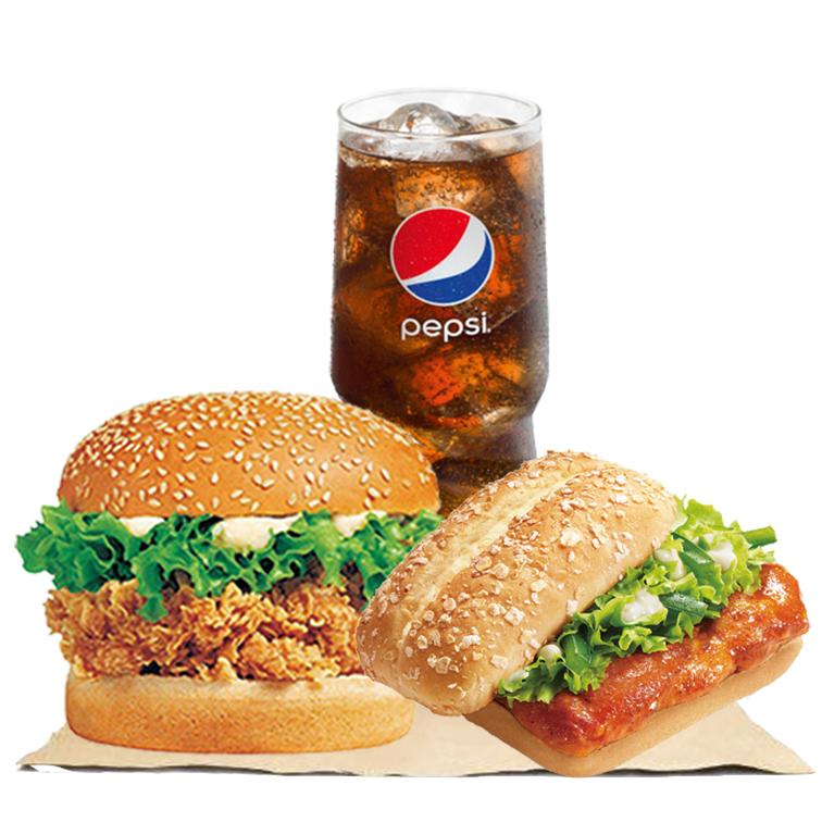 奥尔良鸡腿堡+辣堡+可乐.jpg