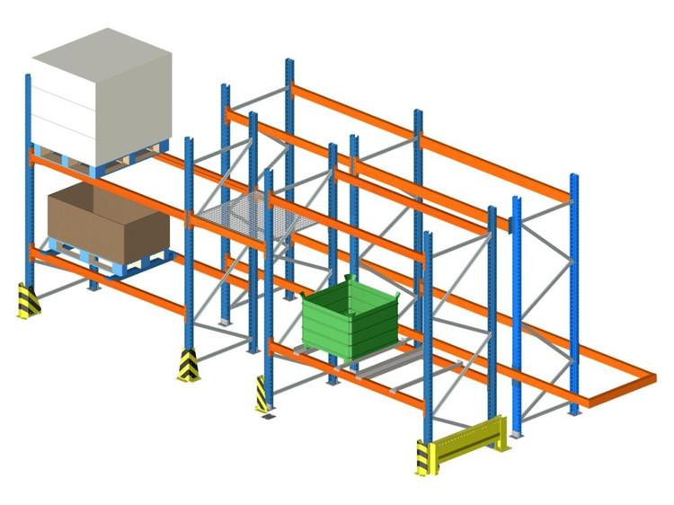 横梁式重型托盘货架基本结构