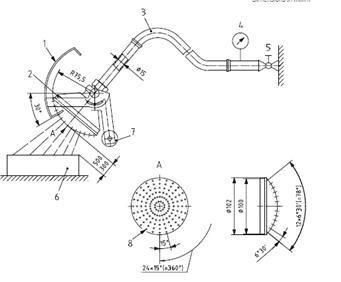 冲水莲蓬式试验装置