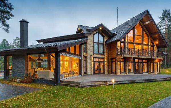 田园木屋惬意悠闲的生活。