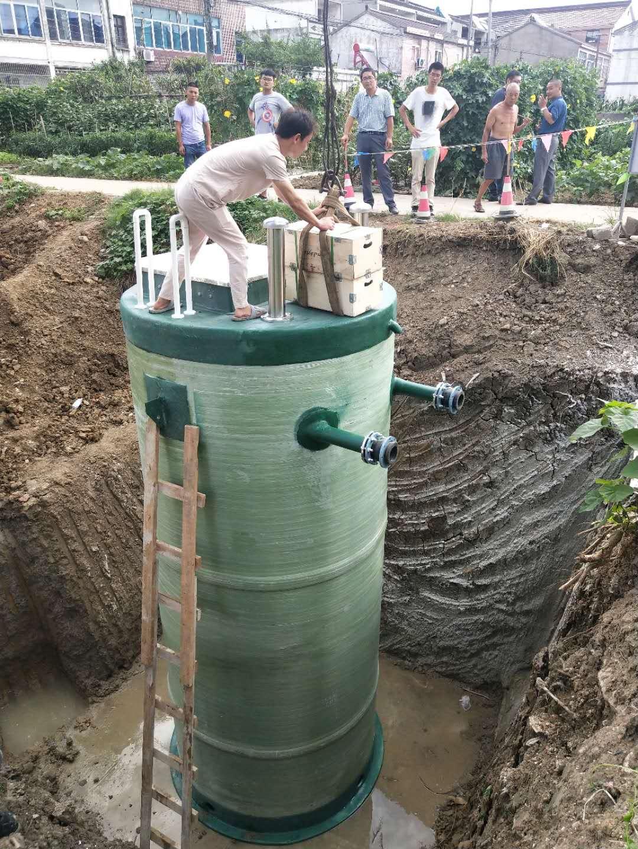 一体化污水提升泵站安装施工