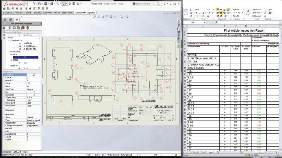 SOLIDWORKS Inspection 检验工具