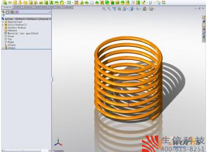使用SolidWorks简单画弹簧的方法