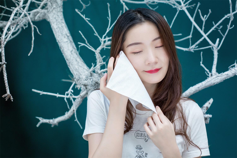 珍珠紋潔面巾