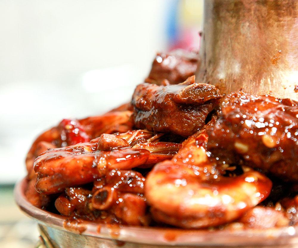 排骨大虾鸡