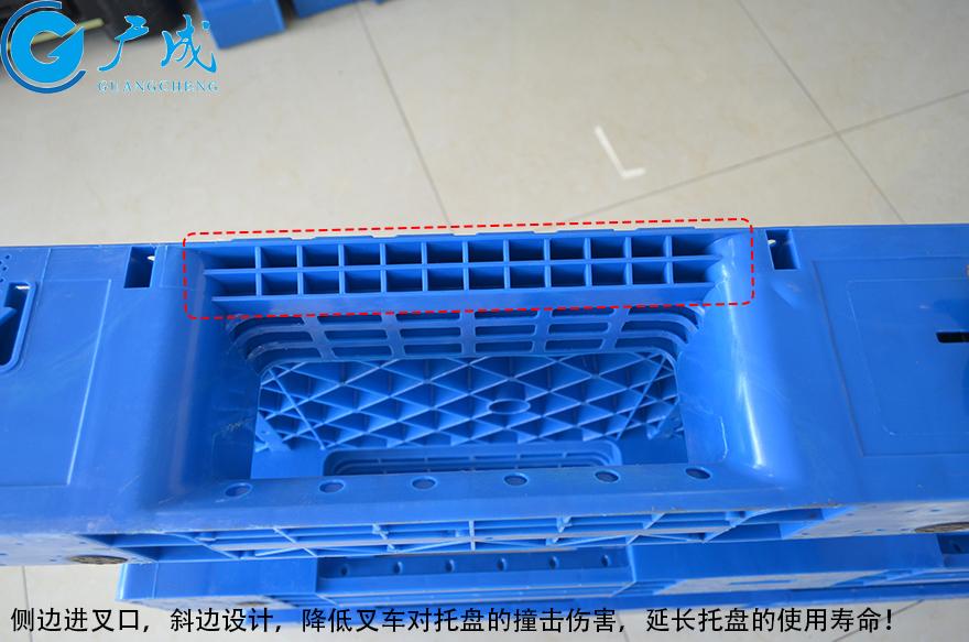 1208网格川字伸缩带塑料托盘斜边
