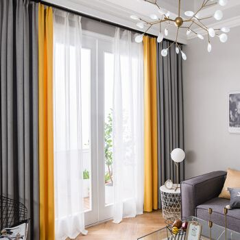 现代风窗帘