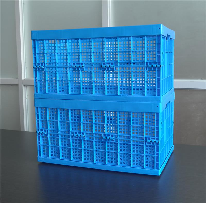 6432折疊周轉筐展開堆砌