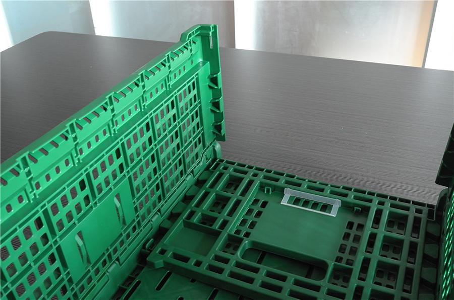 6426折疊周轉筐展開過程細節