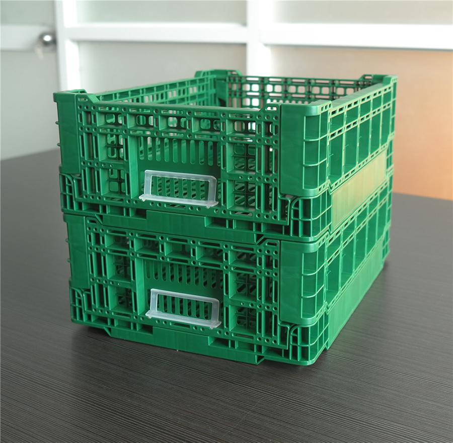 4314折疊周轉筐展開堆碼