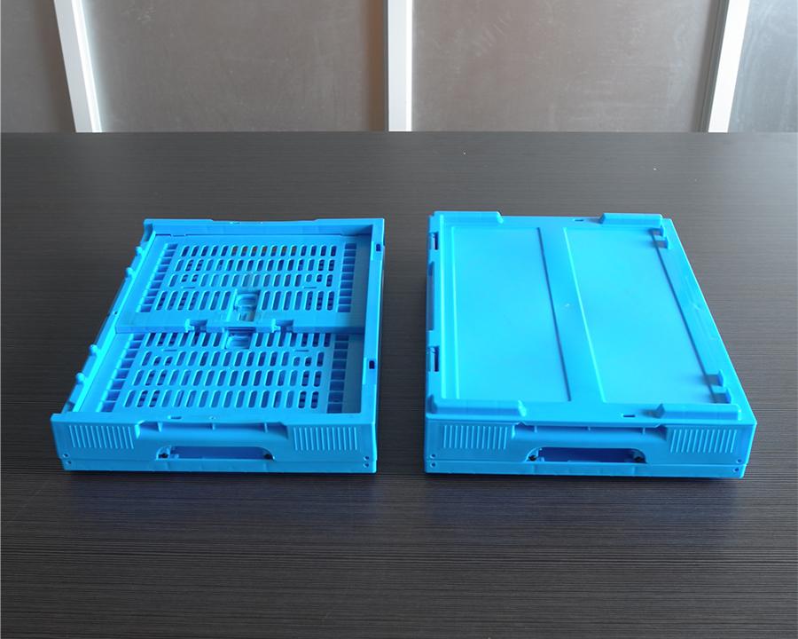43245折叠周转筐折叠盖子对比