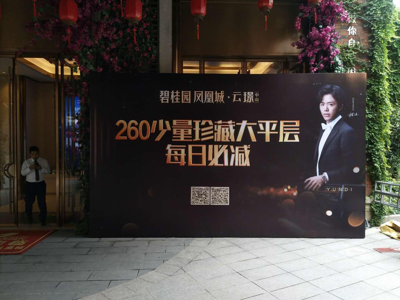 碧桂园凤凰城广告物料工程