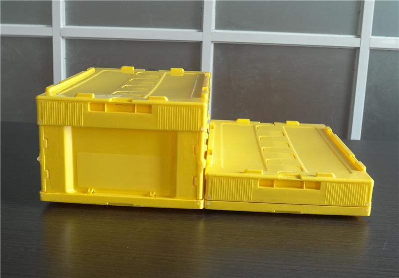 5325折疊周轉箱展開折疊高度對比