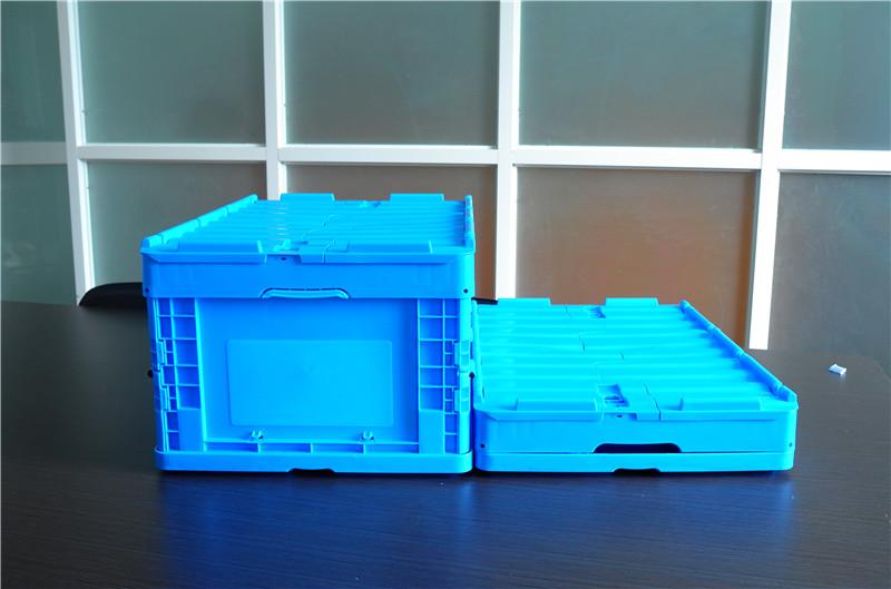 64295折疊周轉箱展開折疊高度對比