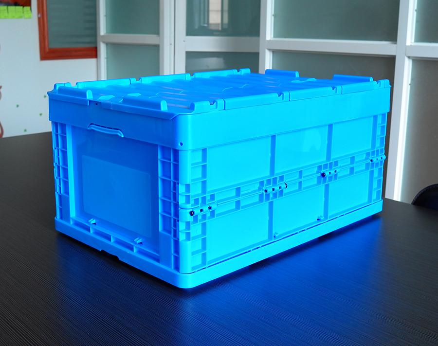 64295折疊周轉箱展開放置特寫