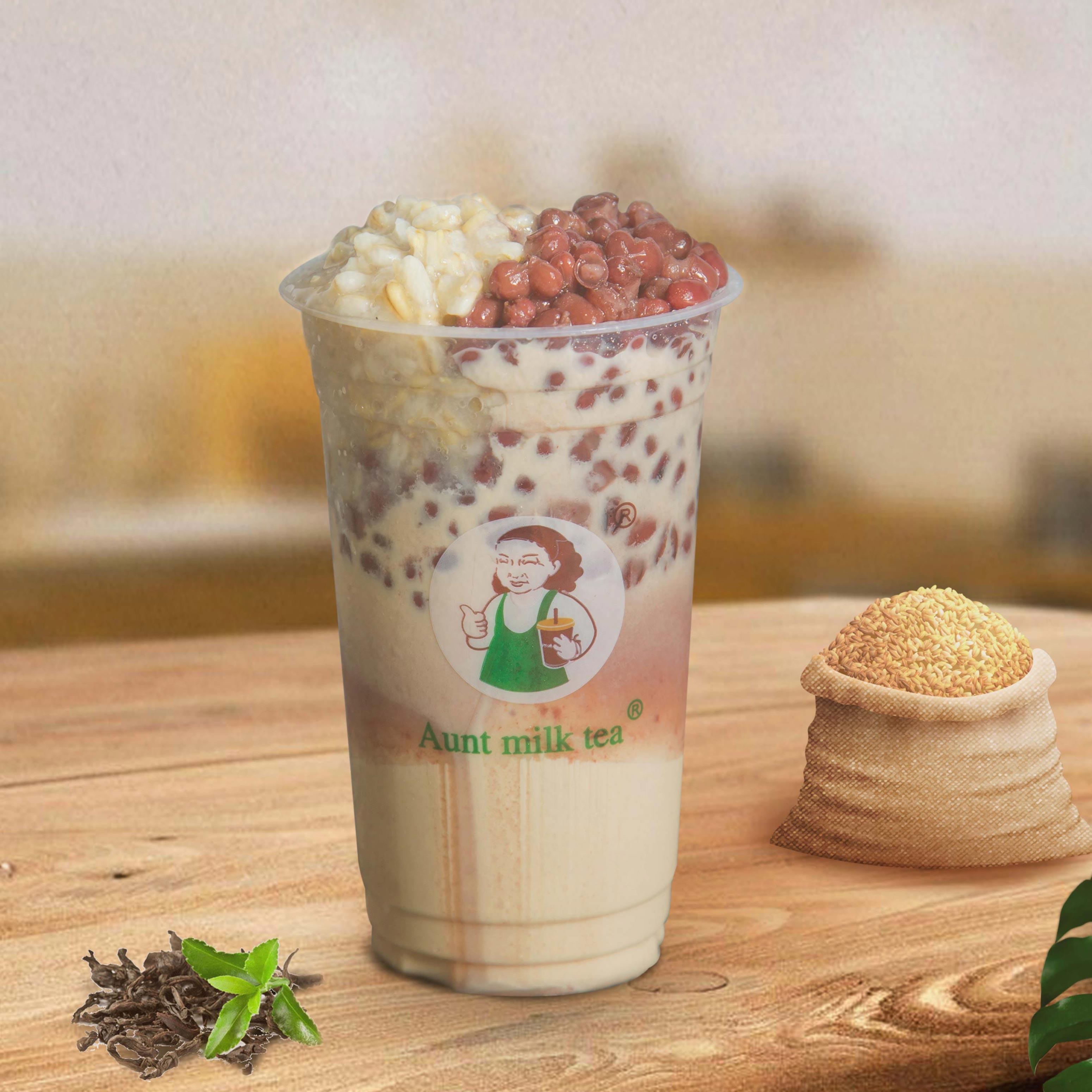 紅豆燕麥奶茶