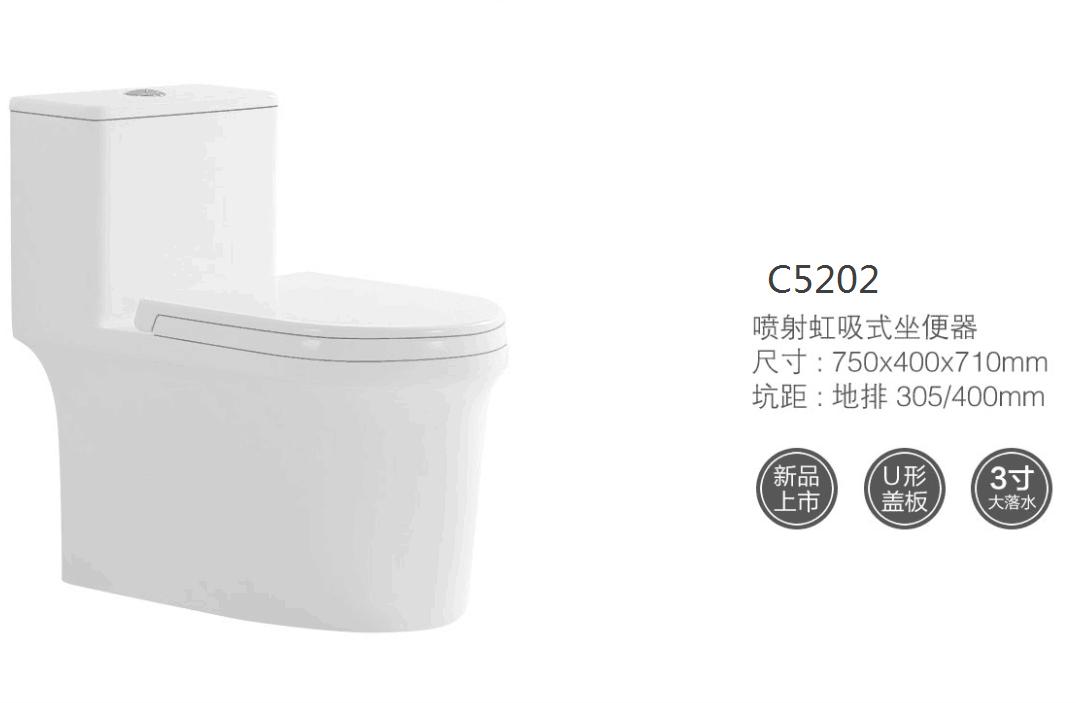 C5202连体马桶坐便器