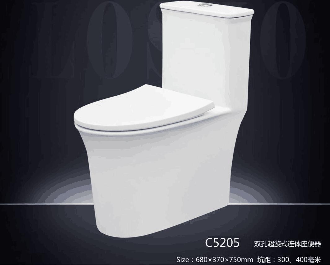 C5205连体马桶坐便器