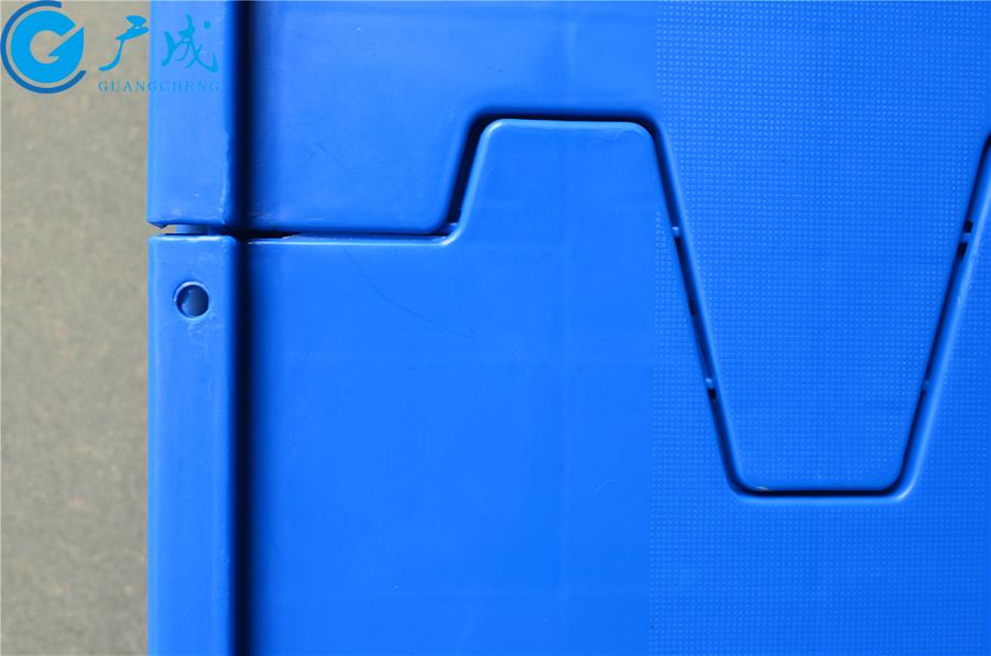 6428翻盖物流箱锁扣孔