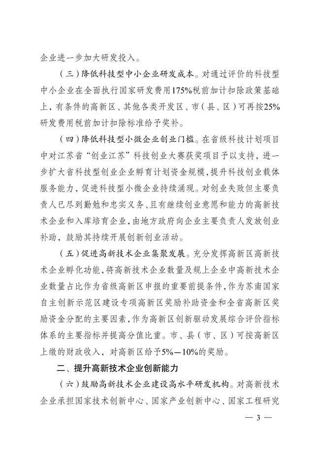 蘇州高新技術企業培育入庫獎勵補貼政策