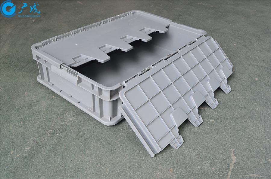 46148翻蓋物流箱展開單面蓋子