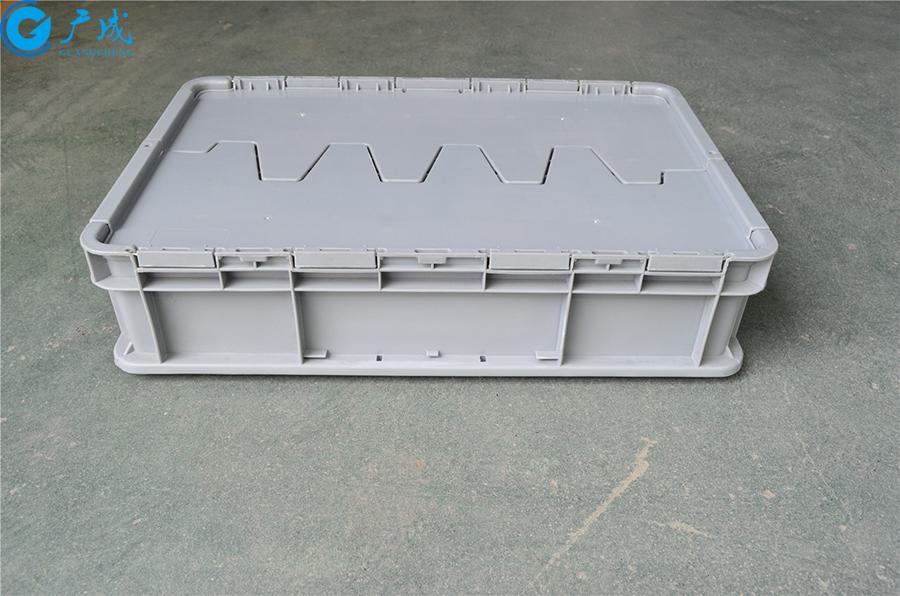 46148翻蓋物流箱長側面