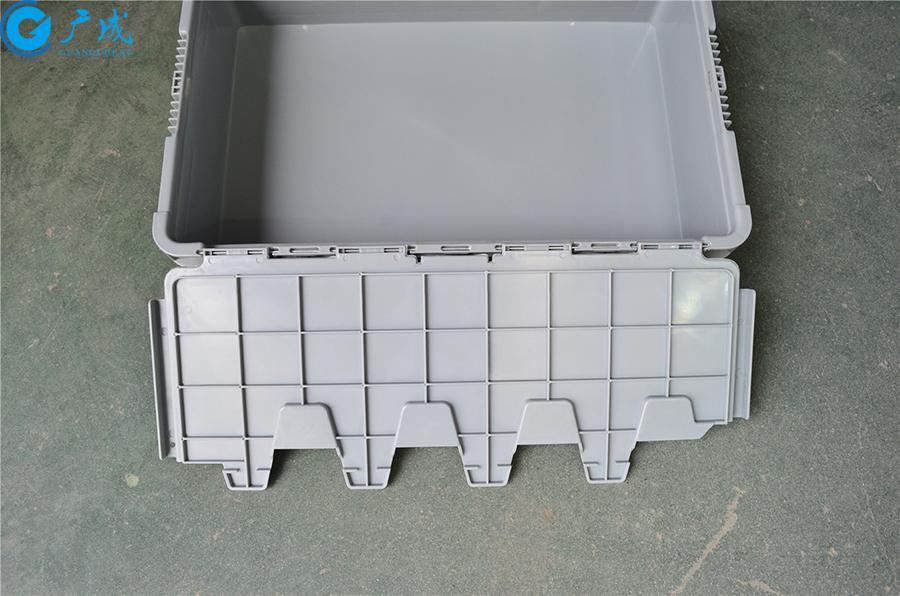 46148翻蓋物流箱蓋子反面細節