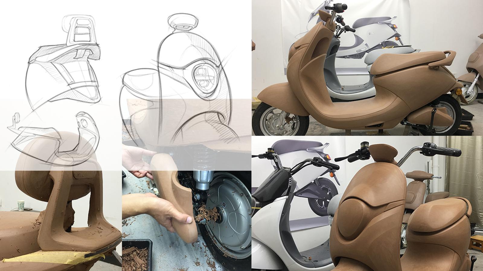 电动车油泥模型制作