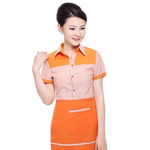 酒店工作衬衫 服务员工作服衬衫 餐饮工装衬衫
