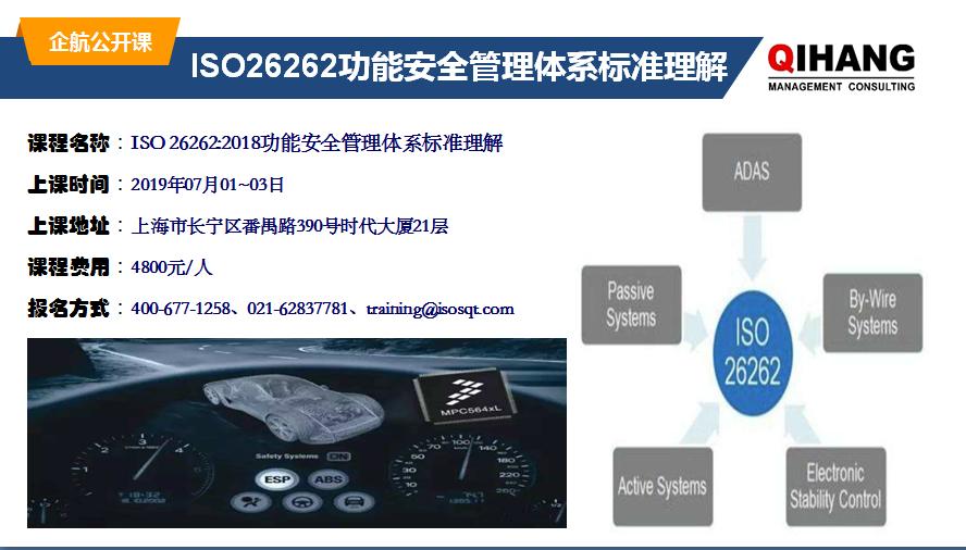 ISO 26262:2018 功能安全管理體系標準理解