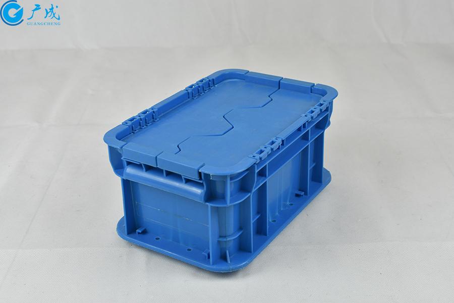 GM23148翻蓋物流箱正面特寫