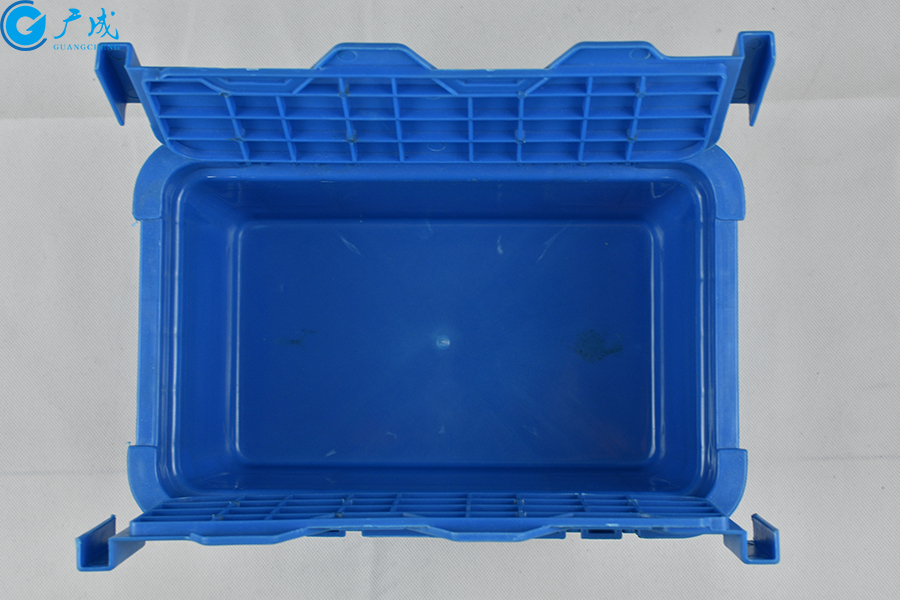 GM23148翻蓋物流箱開蓋內部