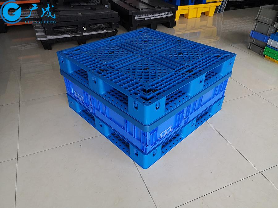 1111网格田字塑料托盘装盖堆码