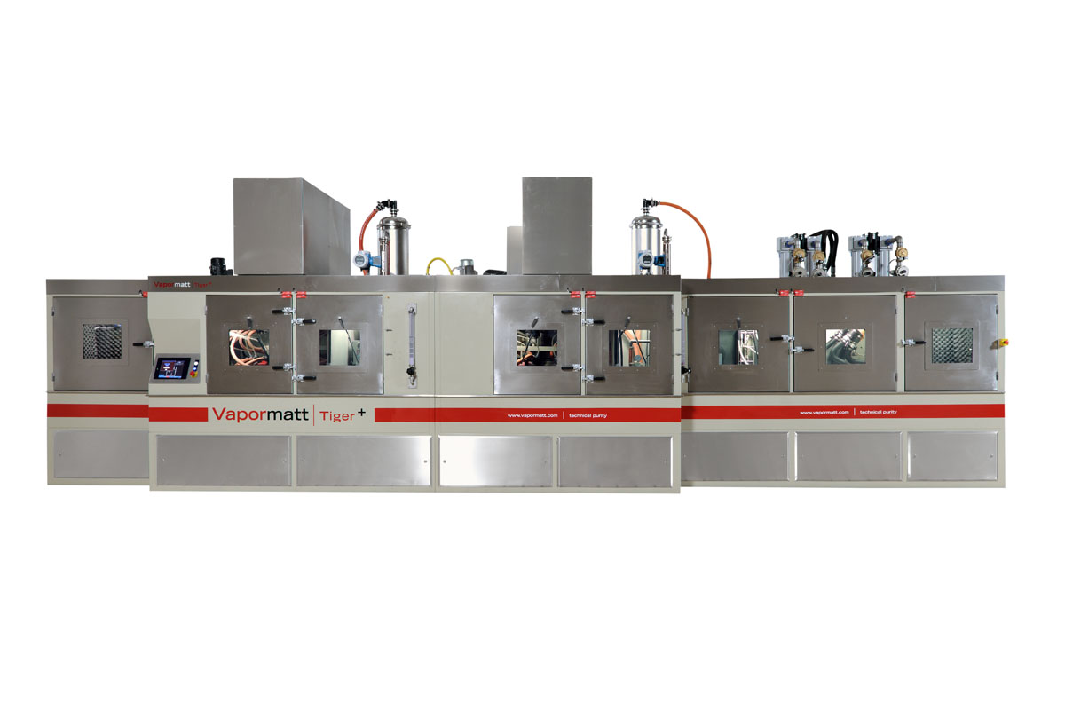 TIGER 连续式多工位湿喷砂清洗和干燥一体机