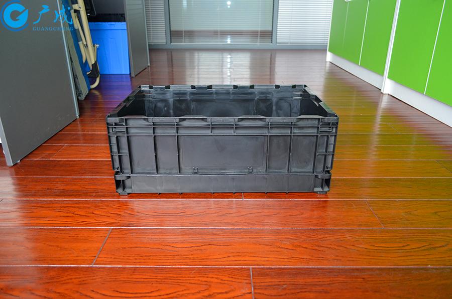 S504折叠防静电周转箱侧面