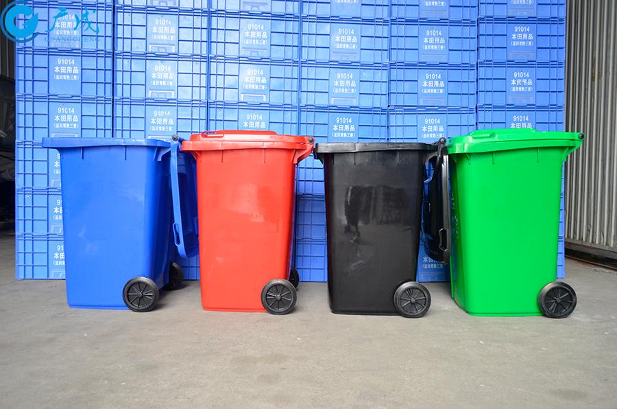 240升垃圾桶側面