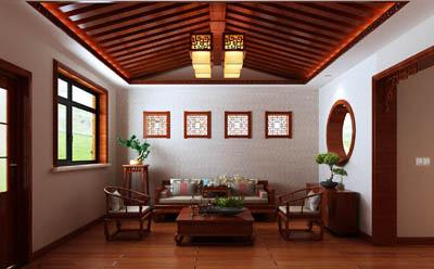 中式客厅装饰—青海梵筑装饰工程有限公司