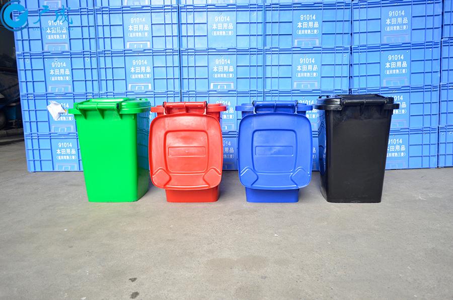 50升垃圾桶背面