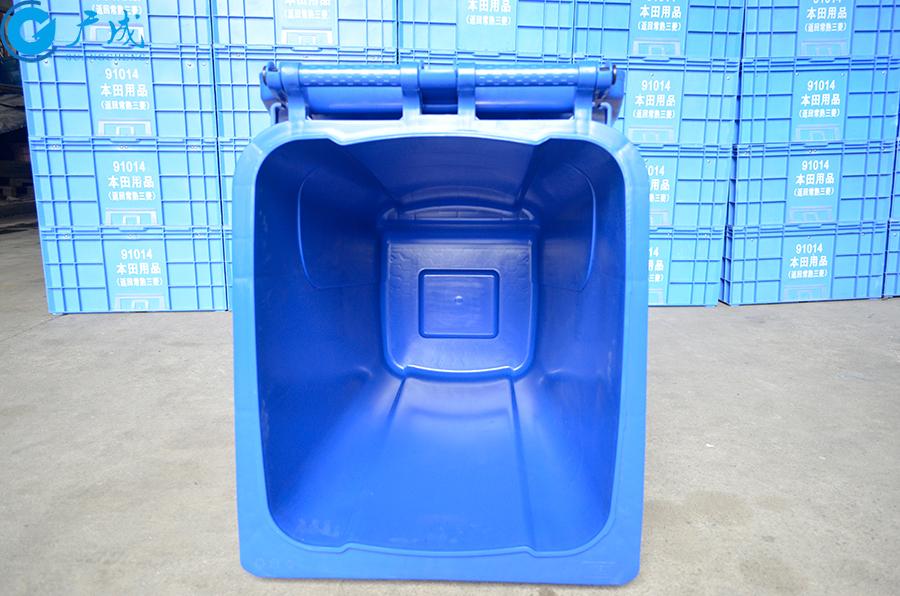 240升加厚垃圾桶桶內部