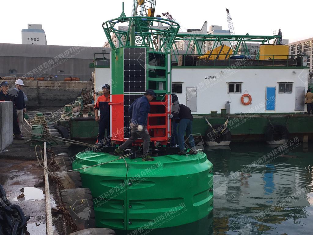 内陆湖水文检测环保材质航标