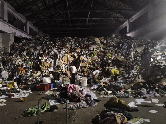 上海两网融合垃圾废品分类分拣回收处理