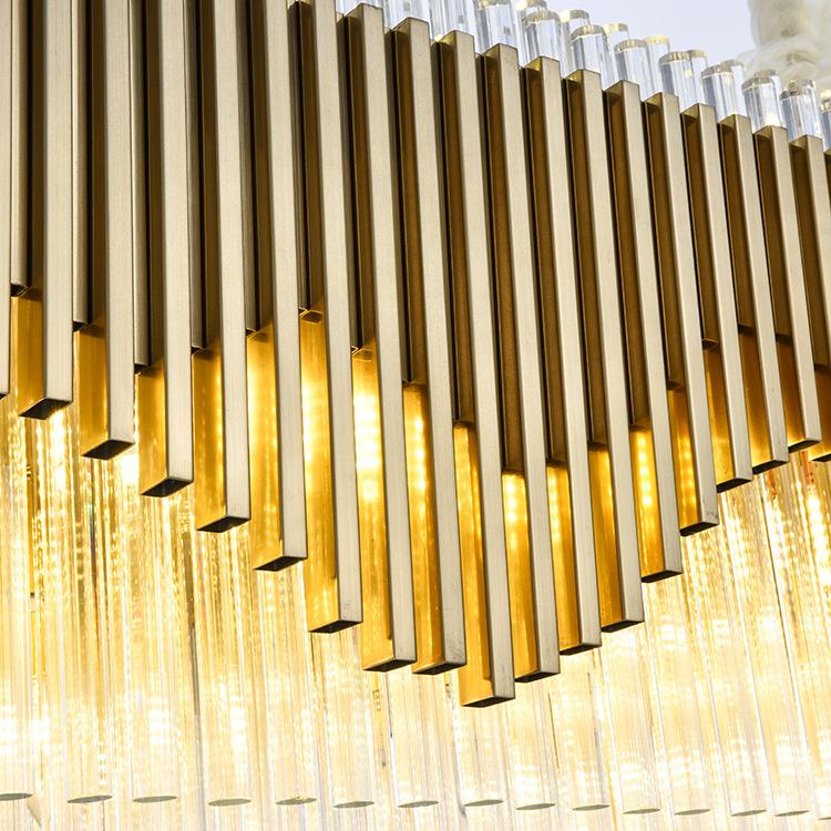 ASA-17960客厅铁艺玻璃吊灯