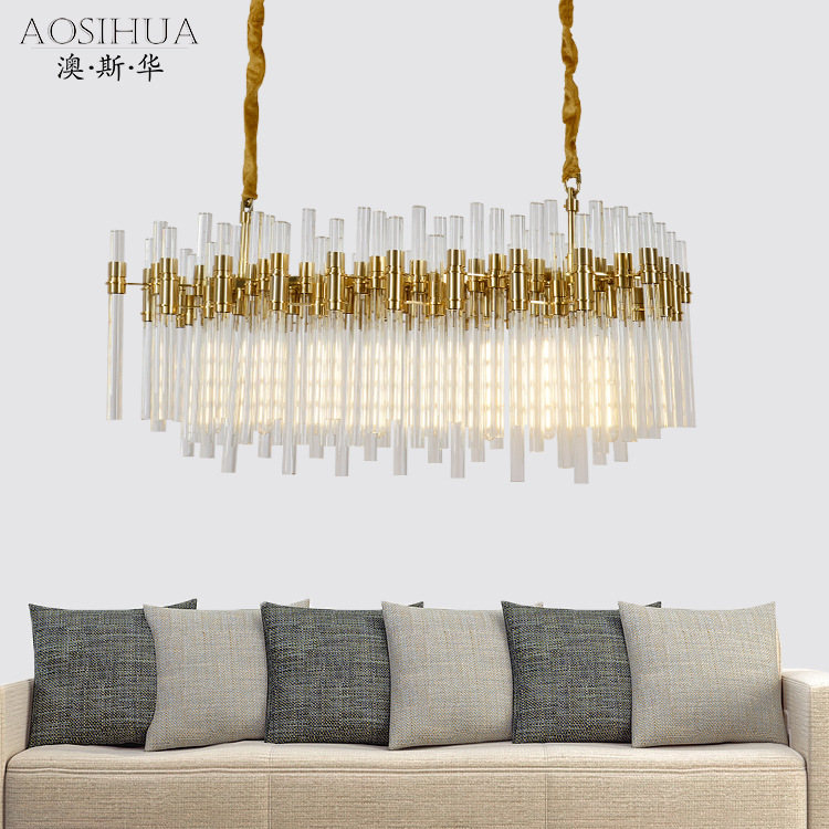 ASA-10196客厅铁艺玻璃吊灯